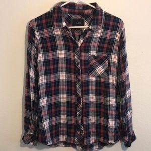 Rails soft flannel plaid shirt